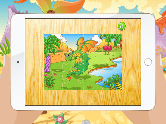 Мультфильм Дракон Пазлы для детей – Детский сад Обучение Игры Бесплатно Скриншоты7