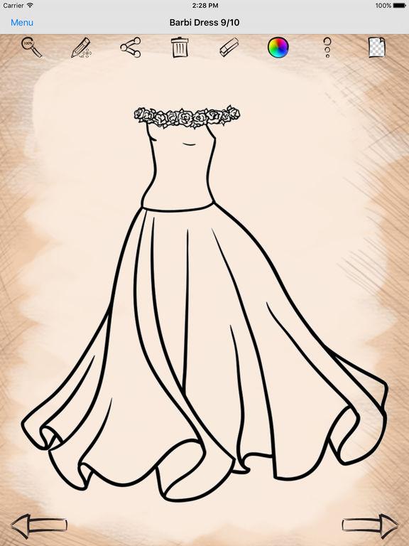 Рисунки на платьях