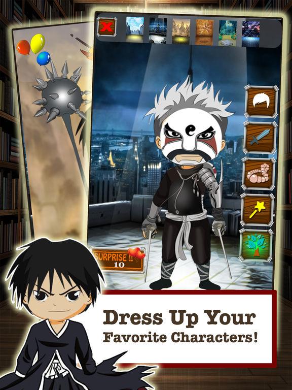 FMA Anime DressUp Games - Manga Maker For Kids FullMetal Alchemist Editionscreeshot 2