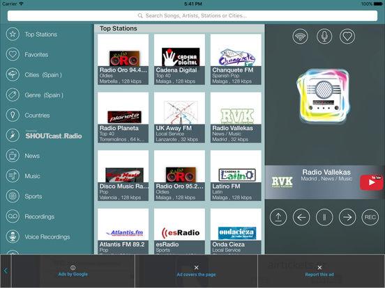 iRadio España iPad Screenshot 1
