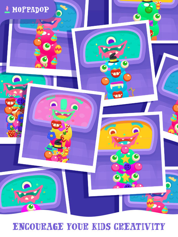 Moppa Ice Cream: Make monster desserts for kids Screenshots