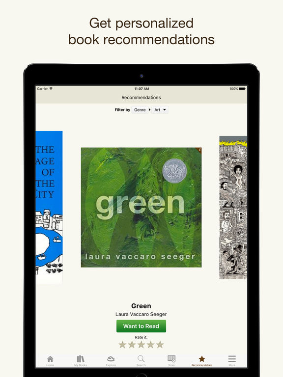 Goodreads – Book Recommendations and Reviews for great Books and eBooks screenshot