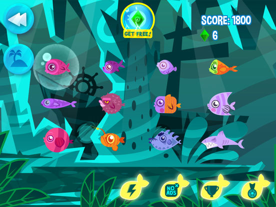 App shopper hungry fish evolution games for Fish evolution game
