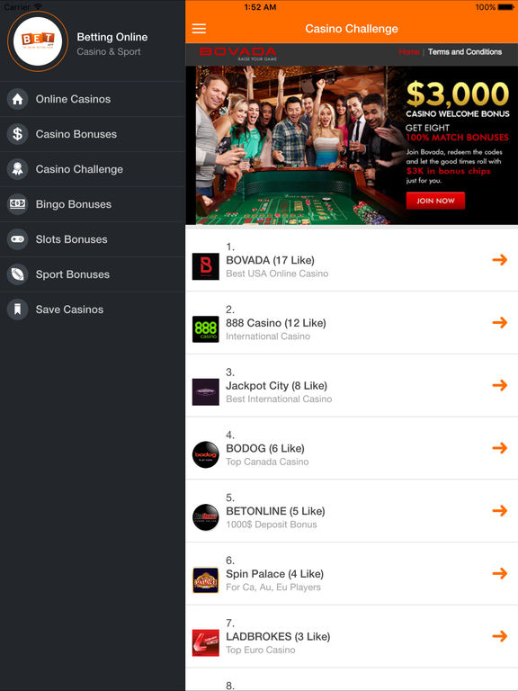 100 online betting sites