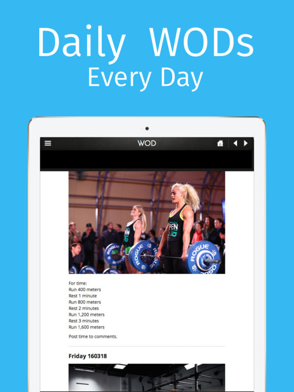 WOD Buddy: Workouts of the Day Screenshots
