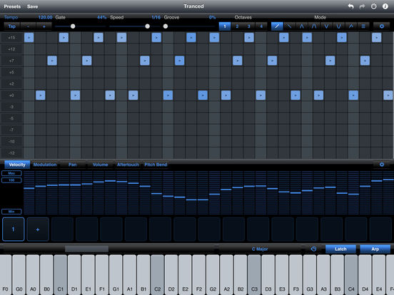 StepPolyArp - Midi Step Polyphonic Arpeggiator iPad Screenshot 1