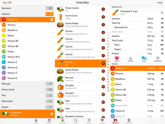 MyFood - Nutrition Facts iPad Screenshot 3