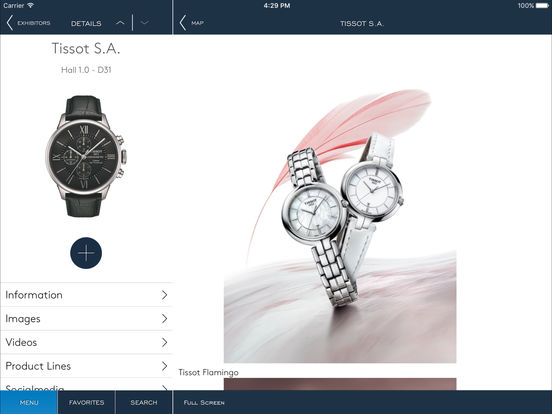 BASELWORLD – Guide for the Watch and Jewellery Show 2011 iPad Screenshot 2