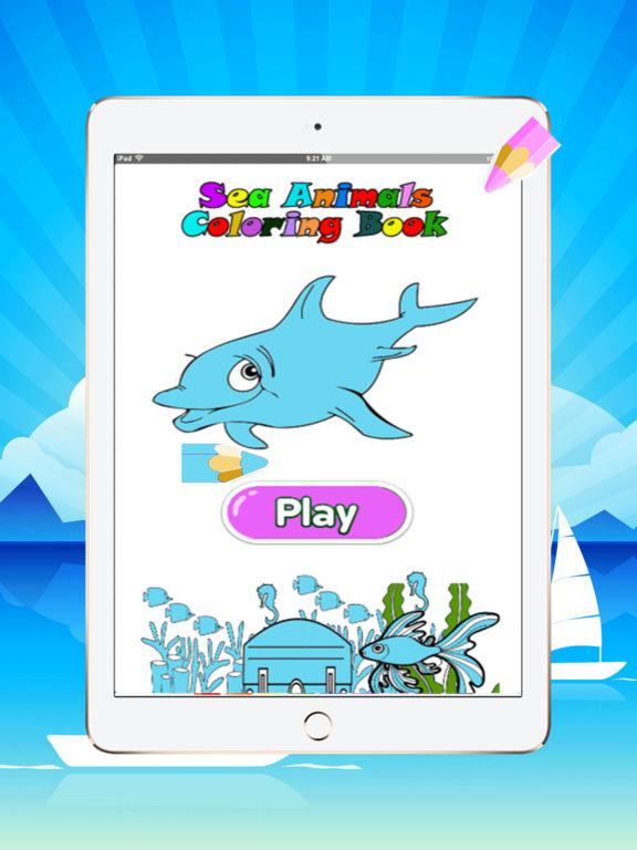 可爱的海洋动物着色书:学画.