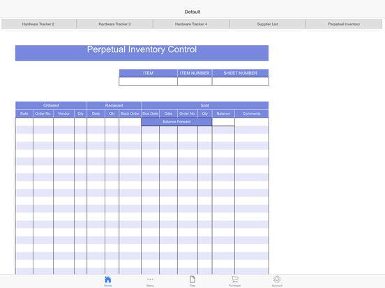 Hardware Tracker Screenshots