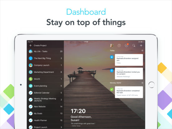MeisterTask (task management) screenshot