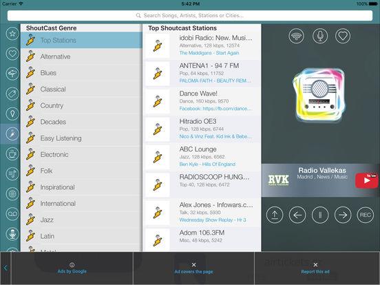 iRadio España iPad Screenshot 3