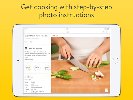 Kitchen Stories - free video and photo cookbook screenshot