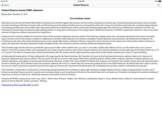 Central Banks iPad Screenshot 1