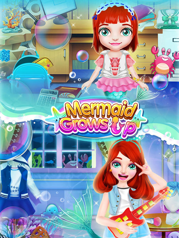 Mermaid Grows Up - Makeover, Dressup & SPA Games FREEscreeshot 3