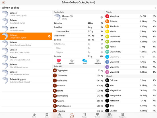 MyFood - Nutrition Facts iPad Screenshot 2