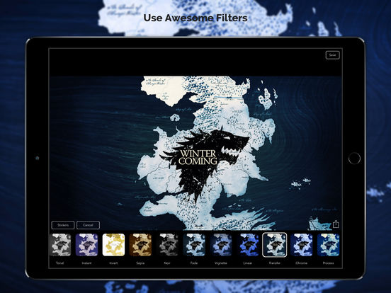 Screenshots of HD Wallpapers & Backgrounds for Game of Thrones Free for iPad