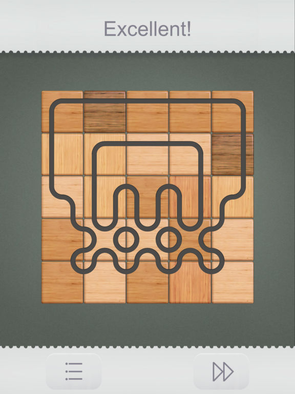 Connect it! Wooden puzzle на iPad