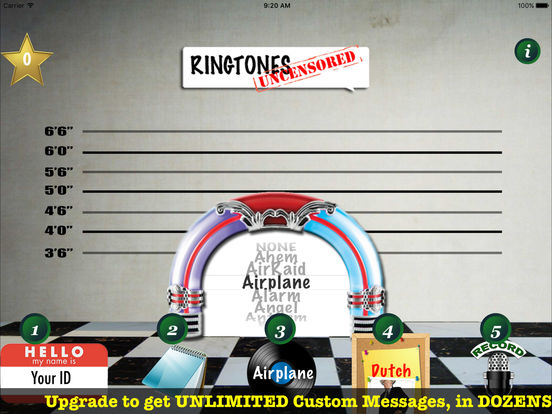 9,999 Ringtones Uncensored USA Voices Ringtone Creator iPad Screenshot 2