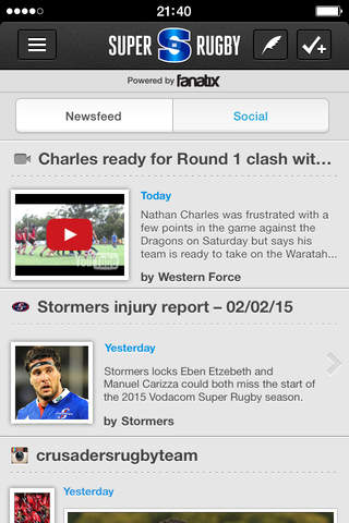 Super Rugby screenshot 1
