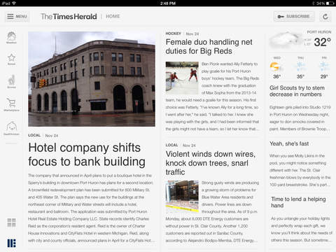 The Times Herald for iPad