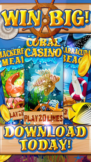 Hungry Fish Slots of Panic - Best 20 Line Casino Free