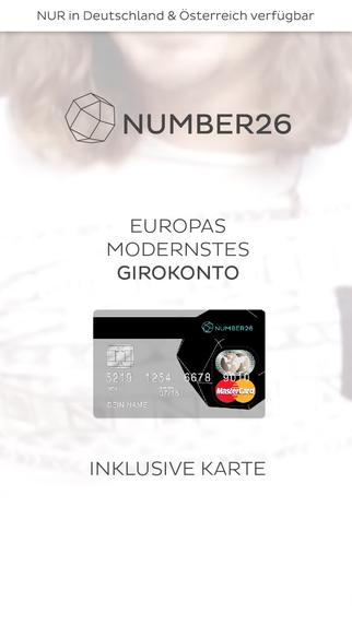 NUMBER26 - Europas modernstes Girokonto - Mobile Banking in Echtzeit