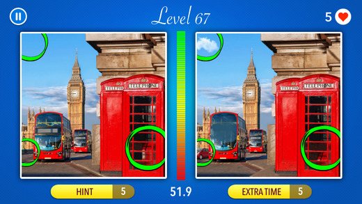 Find 5 differences ~ Free Photo Trivia Game