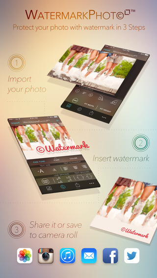 Watermark Photo Square - Batch Your Pictures Fotos and Images with Watermarking App for Instagram Fa