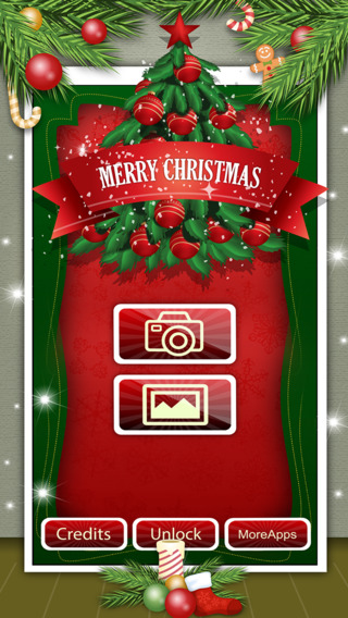 Santa Claus Merry Christmasfy Holiday Stickers Photo Booth Camera