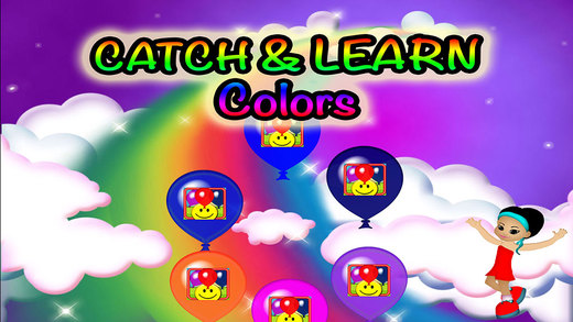 Balloons Colors Preschool Learning Experience Catch Game