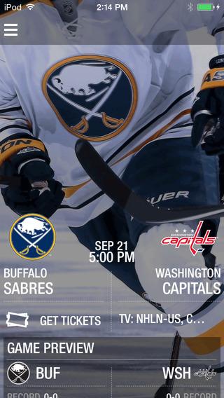 Buffalo Sabres Official Mobile App