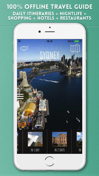 Sydney Travel Guide with Offline City Street and Metro Maps