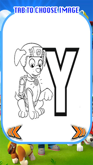 Colouring Book ABCs For Paw Puppy Patrol Kids Edition