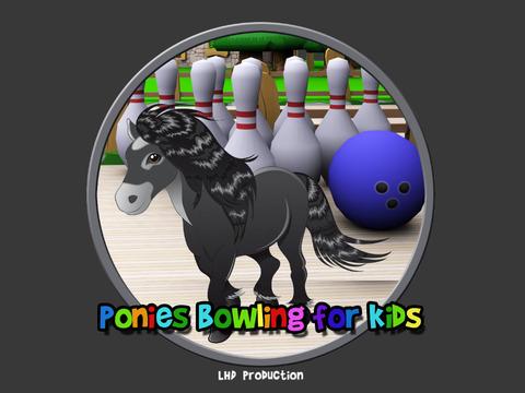 ponies bowling for kids vips iPad Screenshot 1