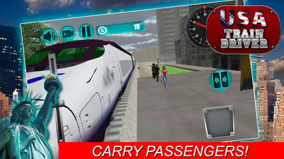 USA Train Driver Simulator 3D screenshot 2