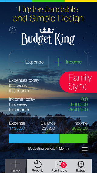 Budget King - Money Management reminder and Family Sync for iPhone