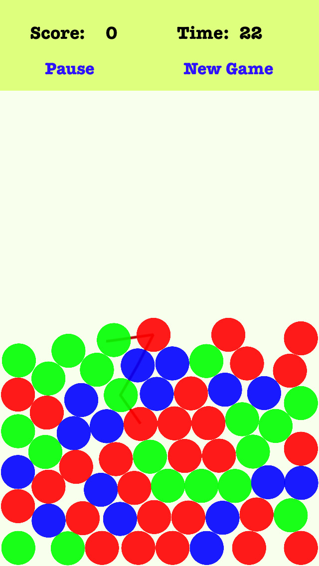 Screenshot 1 Gravity Dots — Connect the dots according to the order of the red green blue
