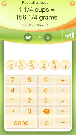 Kitchen calculator pro on the app store on itunes for 1 table spoon grams
