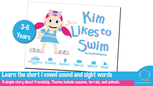 Read Rhyme: Kim Likes to Swim A rhyming story that