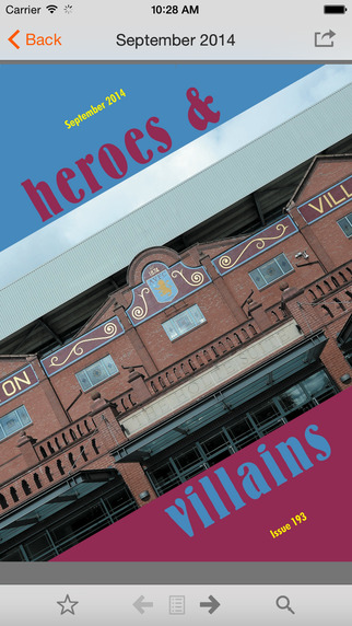 Heroes Villains - The Villa Fanzine