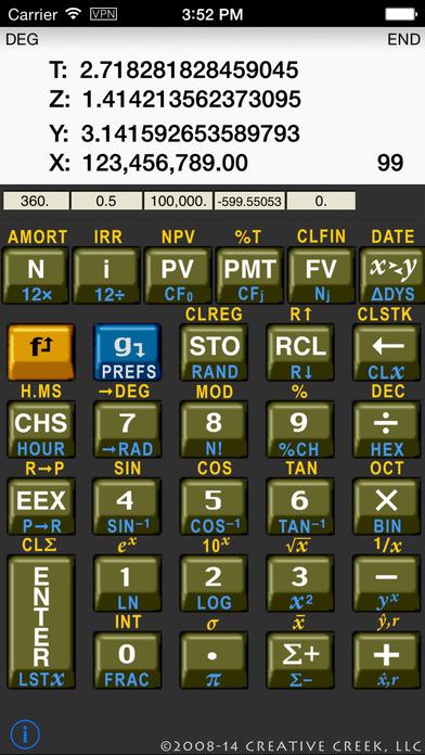 MathU RPN Calc iPhone Screenshot 2