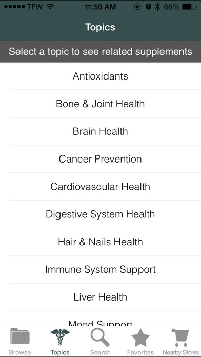 Supplements Guide iPhone Screenshot 2
