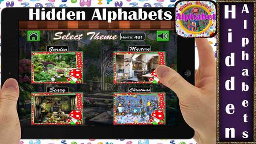 Hidden Alphabets:Garden Mystery Scary Christmas