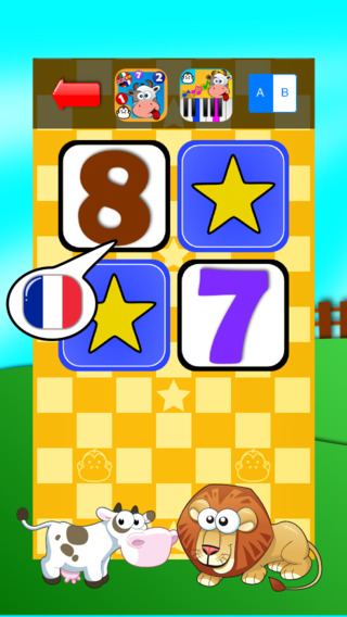 Baby Match Game - Learn the numbers in French