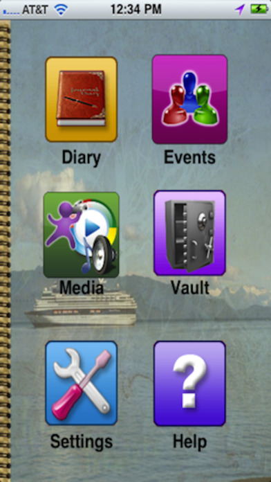 Diary Journal Pro - Easy & Popular Visual Multimedia - Best Private Memory Lane Events iPhone Screenshot 1