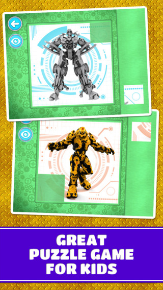 Super Action Robots Puzzles: Cool Logic Game for Toddlers Preschool Kids and Little Boys