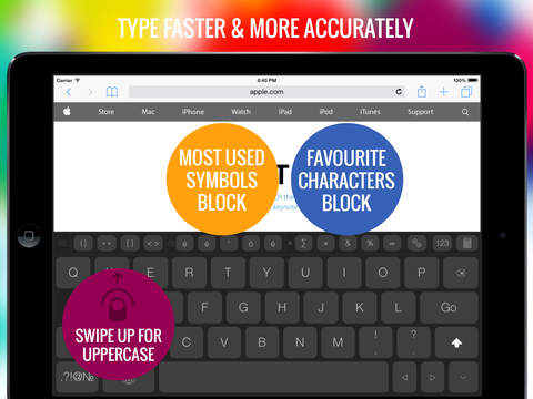 TapyType - custom keyboard with calculator snippets fast paste gesture history and favourites keys