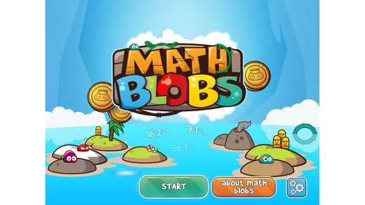 Math Blobs Division facts - practise and improve your math skills