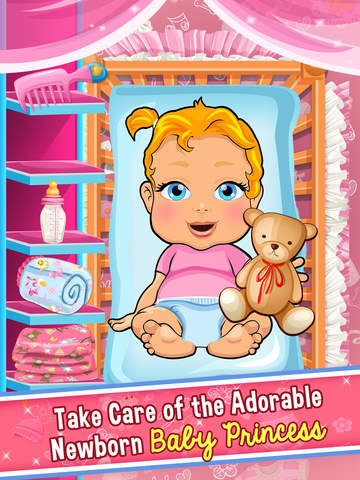 Screenshots of Princess Mommy's New Baby Doctor - my mom newborn salon games for little girl kids for iPad